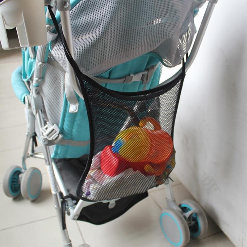 Baby Storage Bag Clear Mesh Stroller Hanging Portable Diaper Organizer Umbrella