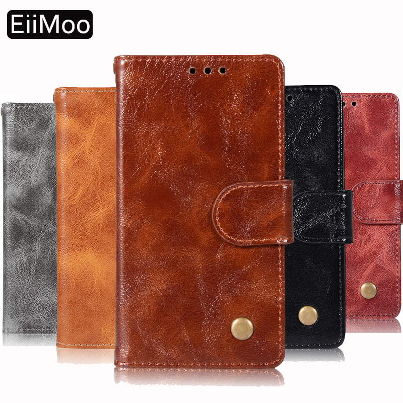 EiiMoo Leather Flip Wallet Phone Cases For Samsung Galaxy Note 5 Note5 Case Silicone Bumper Back Cover For Samsung Note 5 Cover