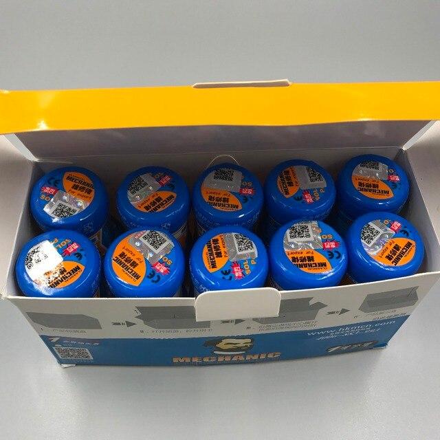 Lot de 5 pâtes à souder pour mécanicien Sn63/Pb37 25 45um XG 50 (MCN 300) XG 500 (XG 50), nouvel emballage
