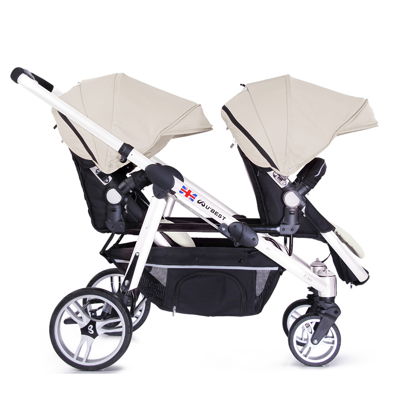 Brand Luxury Twin Strollers Face To Face Double Baby