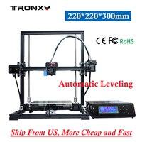 Tronxy 3d Printer X3A Auto Level Kit High Precision 220 220 300mm DIY 3D Printer Large