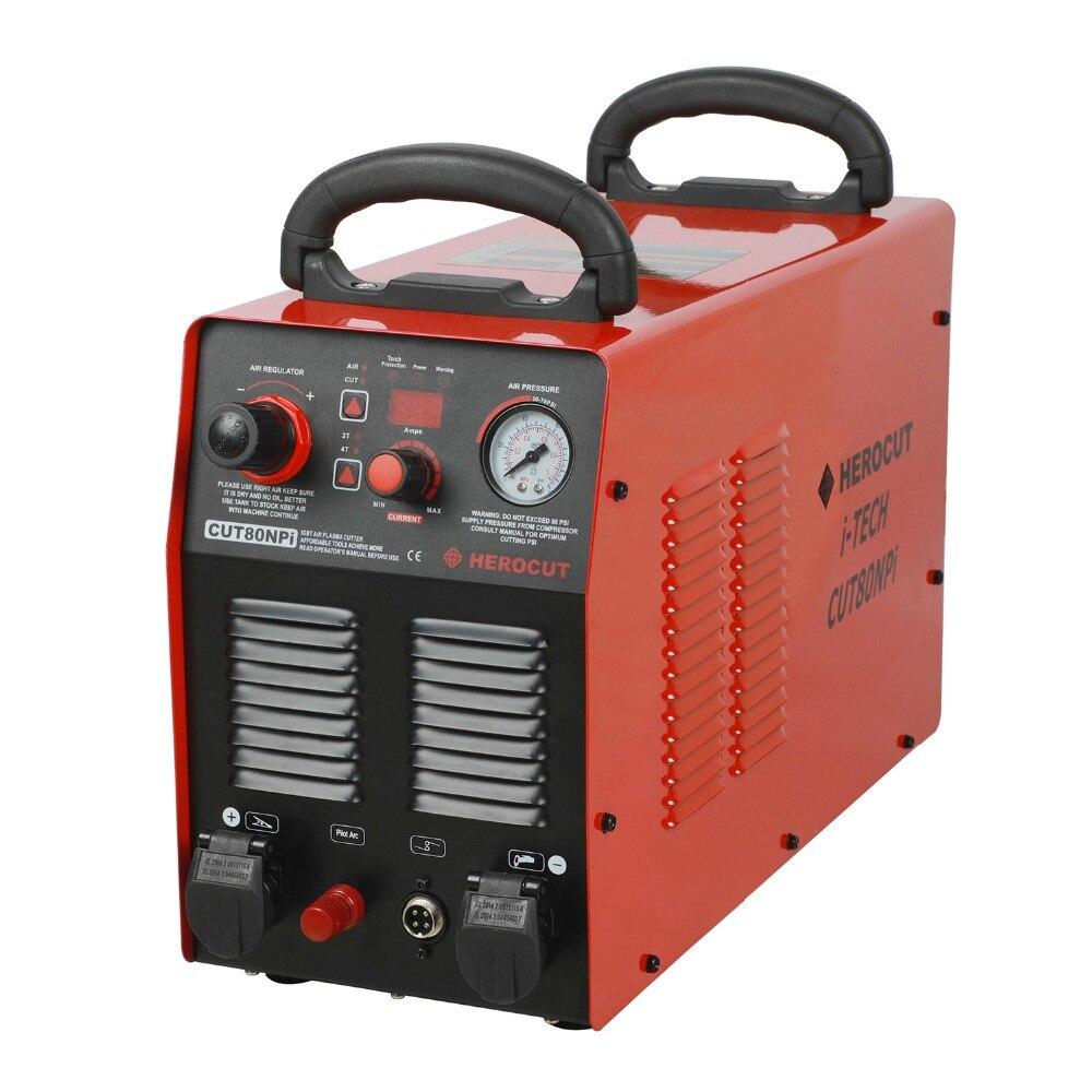 CNC 80 Ampères CUT80NPi 220 v Cutter Plasma IGBT Non-HF Arc Pilote Machine De Découpe 25mm Coupe Nette, CNC Travail Facile, 2 Ans de Garantie