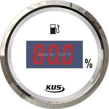 KUS 52 мм цифровой указатель уровня топлива датчик уровня горючего 0-190ohm сигнала для лодки автомобиля