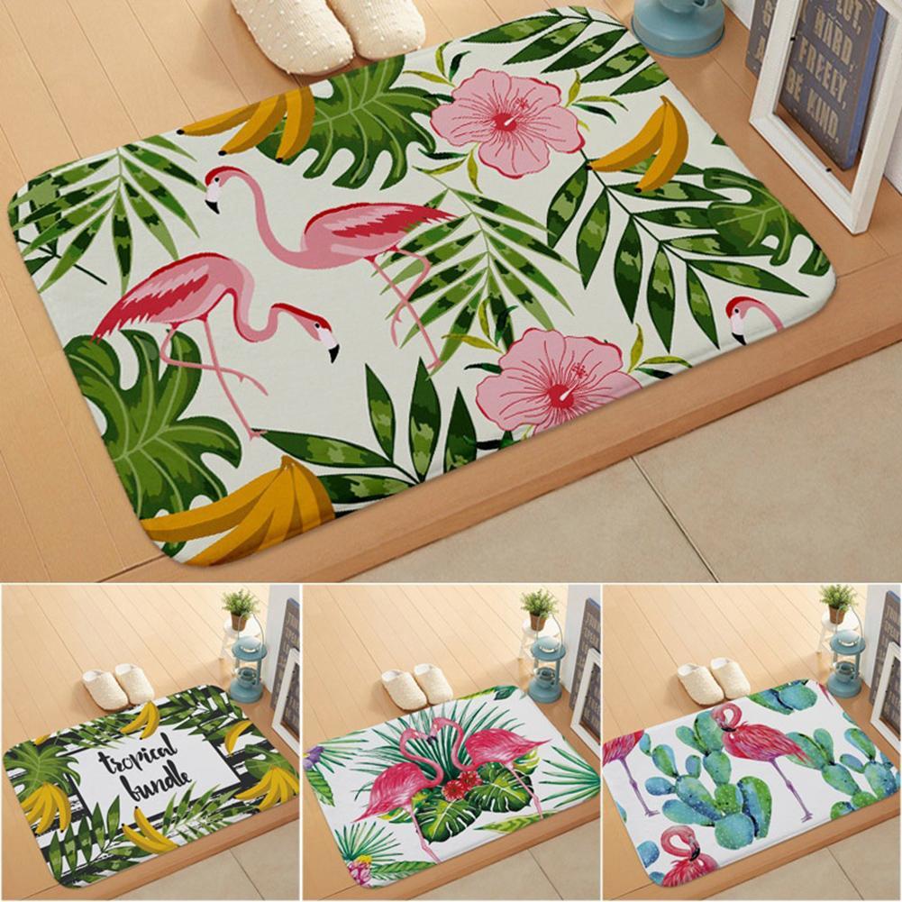 1Pc Stylish Flamingo Kitchen Bathroom Anti-slip Doormat Carpet Floor Mat Home Decor