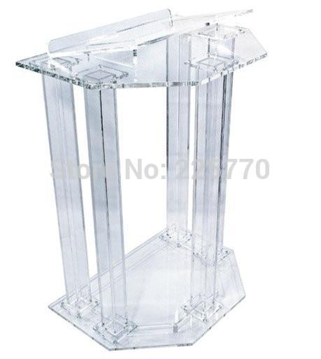 Hot Sale Fre Shiping Customized Acrylic Church Lectern / Pulpit / Lectern / Podium Cheap Church Podium