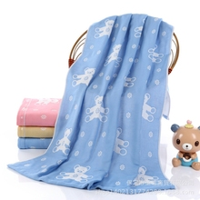 Baby Cotton Swaddles Soft Muslin Blanket Kids Breathable Blankets Newborn Photography Props Quality Bedding Three Color Bear