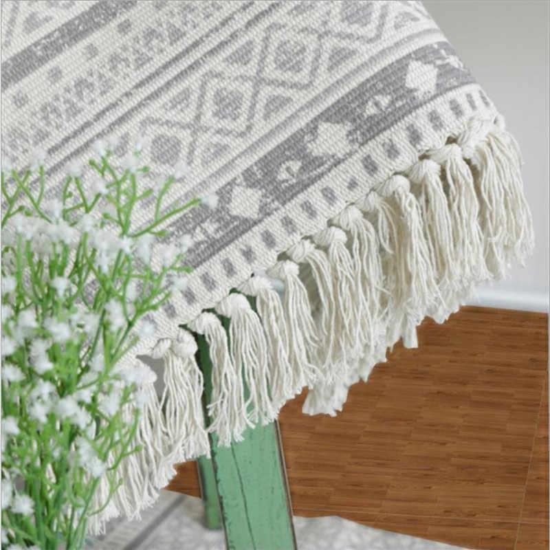 Cabeceira Tapete Retângulo Tapete de Algodão E Linho Tecidos tapetes de Lavagem Pode Ser Usinado