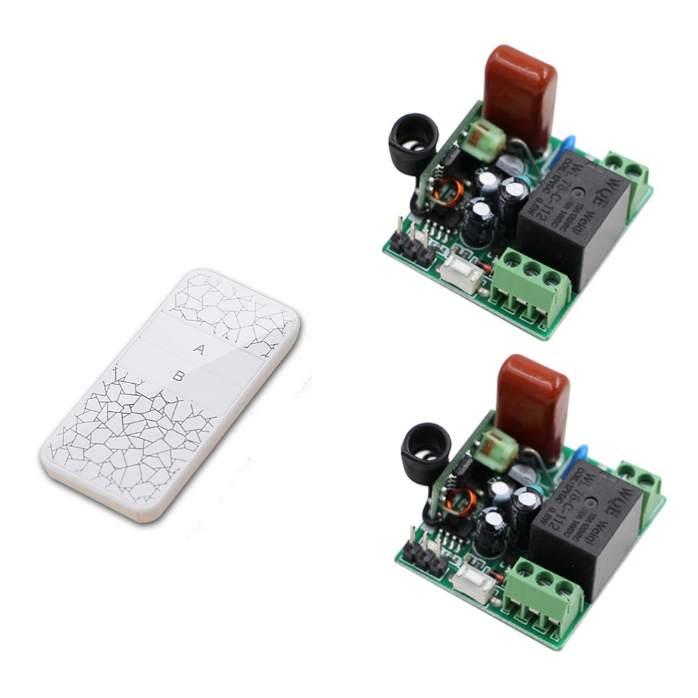 Promotion Wireless 1 Channels ON/OFF 220V Lamp Remote Control Switch Receiver Transmitter Used in Remote Control Curtains/Alarm