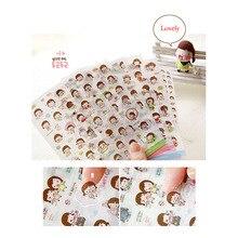 12 листов/партия, новые милые прозрачные наклейки для дневника, декоративные наклейки