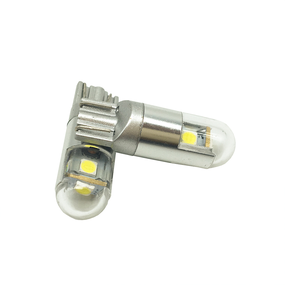 50X Car Auto LED T10 3SMD W5W 2825 192 168 3 smd 3030 LED Wedge Car Side Marker Light Bulbs T10 Led Light Bulb Lamps 12V DC in Signal Lamp from Automobiles Motorcycles