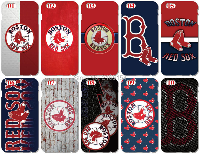 Wholesale lot Boston Red Sox Plastic Hard Cell Phone Cover For iphone 4 4S 5 5S SE 5C 6 6S Plus For iPod Touch 4 5 6 Mobile Case