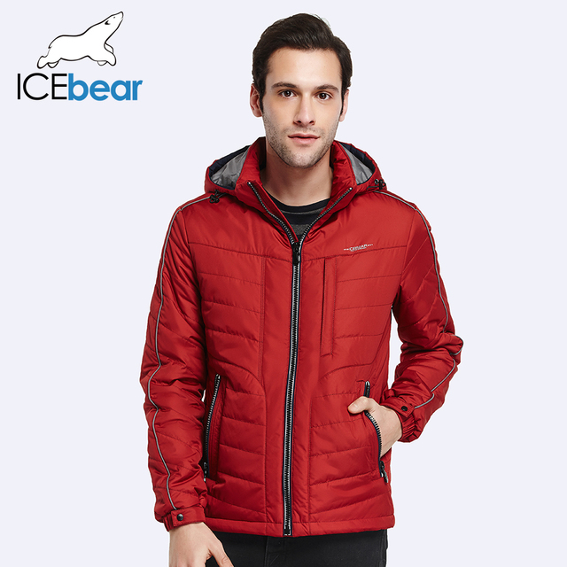 ICEbear 2017 Thin Cotton Large Size Men Spring Autumn Fashion Casual Solid Long Jacket Coat With Zipper Pocket 17MC005D