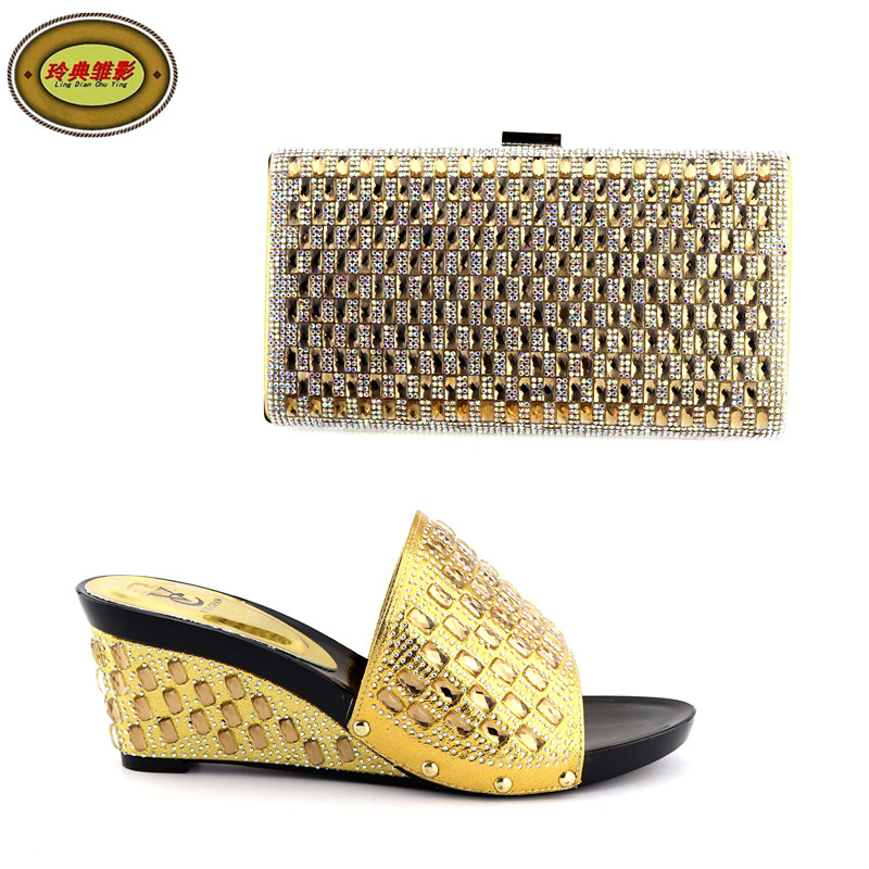 JY002 Fashonable Women Sandals Shoes And Bag Set Good Looking African Women High Heels Pumps Matching Purse For Wedding nx7 28adr plc very new looking and in good condition