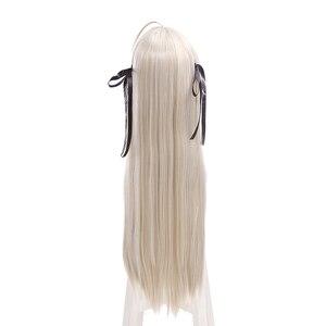 Image 4 - L email perruque pour Cosplay synthétique lisse, longue de 80cm, nouvelle perruque pour Cosplay Yosuga no Sora In solitude