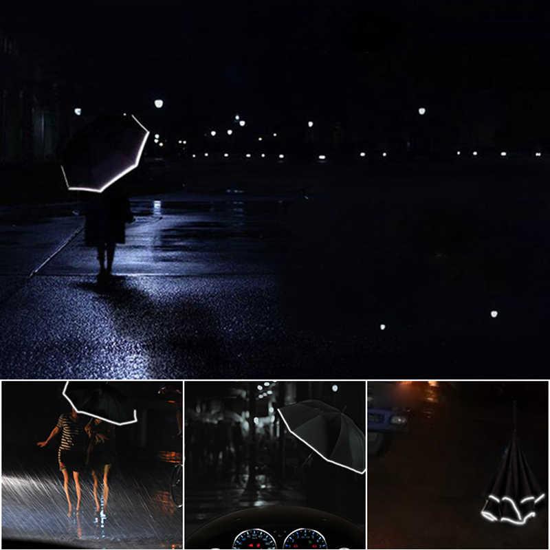 À prova de vento Night Sky Via Láctea Lua Gato Guarda-chuva Invertido Double Layer Mulheres Chuva Chuvas Reversa