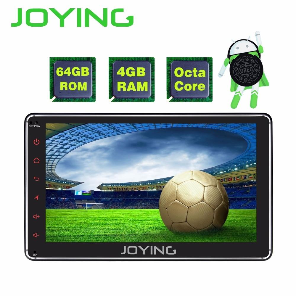 JOYING 4 gb RAM 64 gb ROM 1 din 7 pouce Android 8.1 voiture radio stéréo GPS audio Octa core HD tête unité avec carplay et android auto