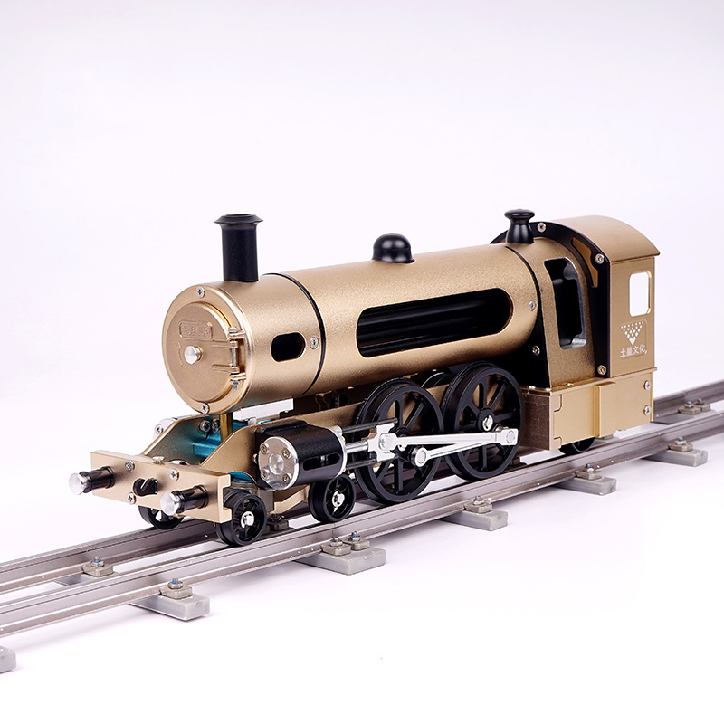 HowPlay electric steam train model DIY metal assembly model mechanical engine adult toys difficult assembly model children gift