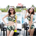 Camouflage Midriff Two-piece Swimsuit Split Swimwear Students Underwear Swimsuit Sexy Bikini Underwear Swimwear Summer Clothes