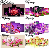 5D DIY Diamond Painting Crystal Floral Square Rhinestone Pasting Home Decor Painting 3d Diamond Embroidery Mosaic