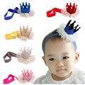 Recién nacido Vendas Del Bebé Del Cordón de La Perla Tiara Hair Band Accesorios Para el Cabello Headwear Venda de Los Niños Kids Girl Princess VCO36 P40