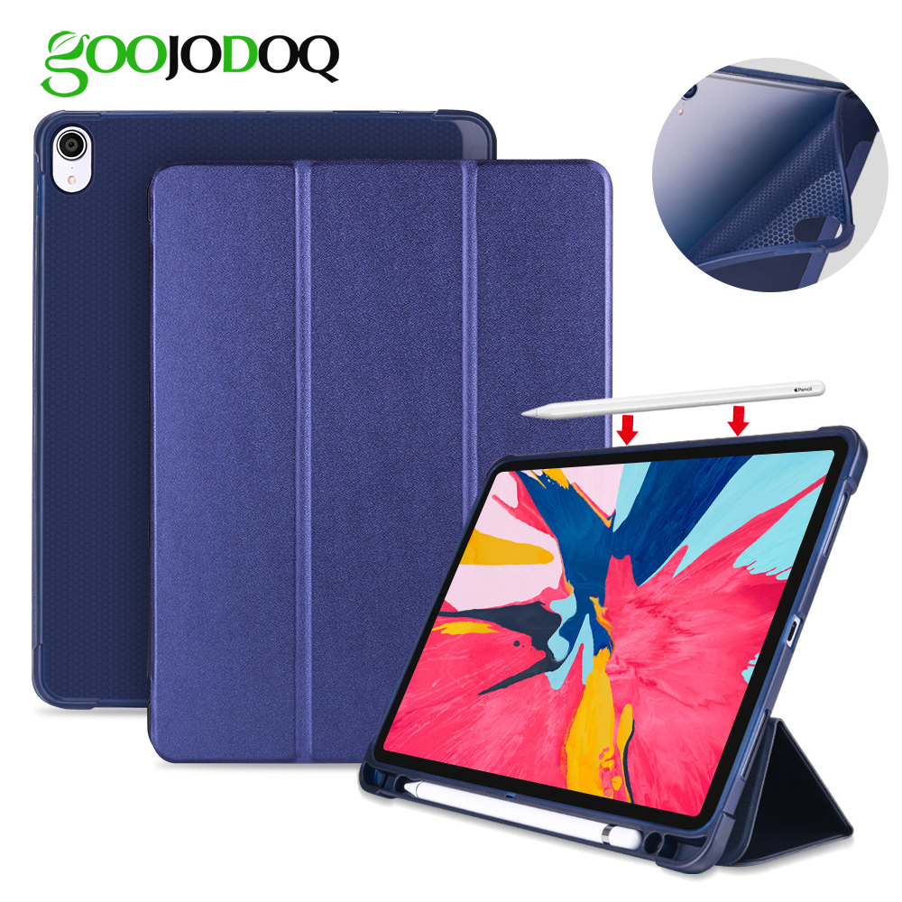 sports shoes 5cd52 125a2 US $7.99 44% OFF Smart Case Funda For iPad Pro 11 Case with Pencil Holder  Support Wireless Charging for Apple Pencil for iPad 11 Case Cover-in  Tablets ...