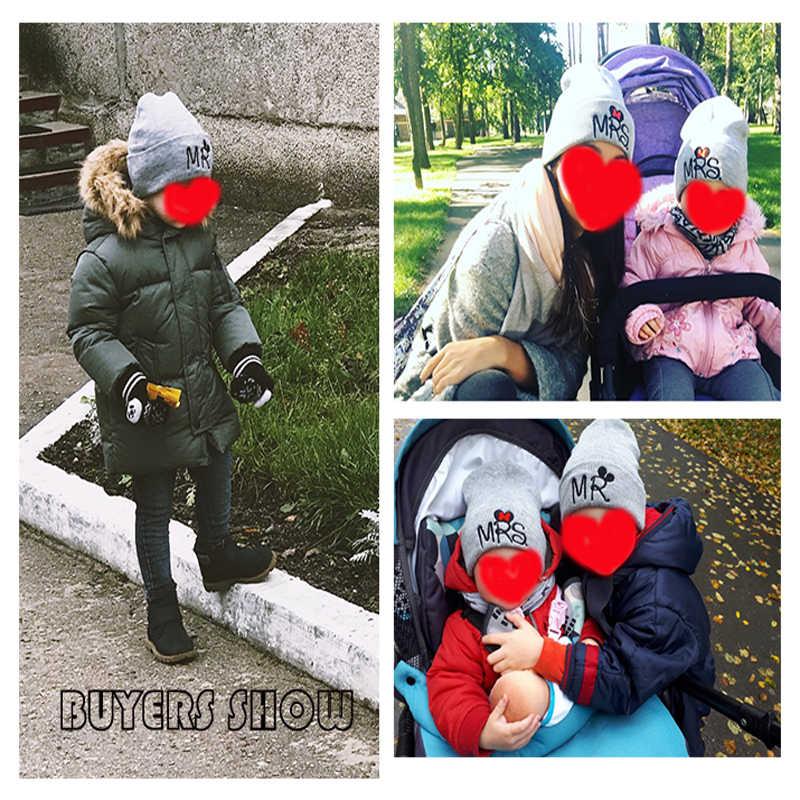 Kinderen Hoed Voor Meisjes Jongens Zachte Winter Warme Muts Mr/Mrs Gebreide Beanie Caps Leuke Kinderen Cartoon Hoed Caps pet