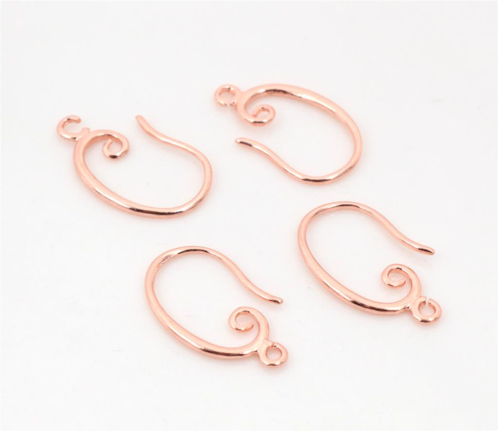 10pcs ( 5pair) 27x18mm Rose Gold Plated Ear Hooks Earring Wires For Handmade Women Fashion Jewelry Earrings (L2-19)
