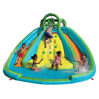 Inflatable Jumping Bouncer Castle with Water Slide Pool For Christmas Gifts