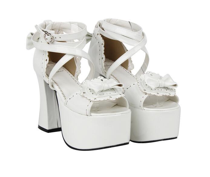 Femme Chaussures Femmes Cosplay Dentelle Haute D'été Fille Mori Super Lolita Princesse Pompes Sandales Empreinte Robe Dame Angélique 47 Talons 5xYq7Tw4nX