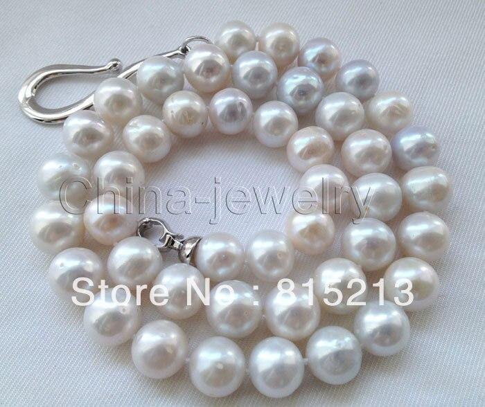 Livraison gratuite> @ @> N1122 collier de perles deau douce rondes blanches 11-12mm-fermoir GPLivraison gratuite> @ @> N1122 collier de perles deau douce rondes blanches 11-12mm-fermoir GP