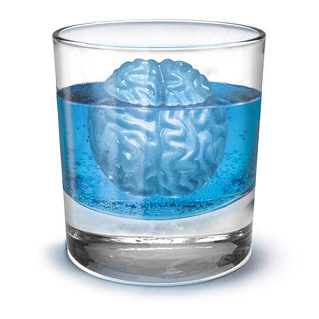 1 STÜCKE Novely Artikel 3D Gehirn Runde Formen Eiswürfelschale ...