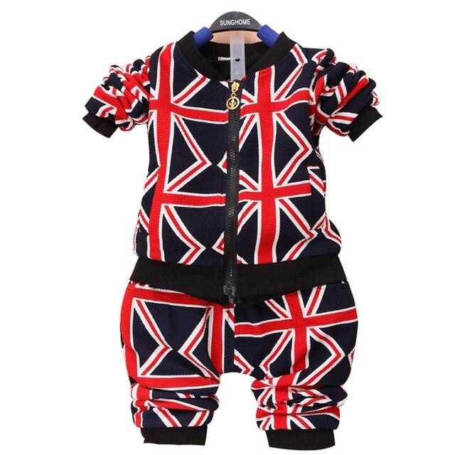 2015 новая коллекция весна детская одежда костюм 1-3 yearbaby Европа Стиль шаровары брюки 1 компл. Мультфильм мальчик установить новорожденного набор ГЭС