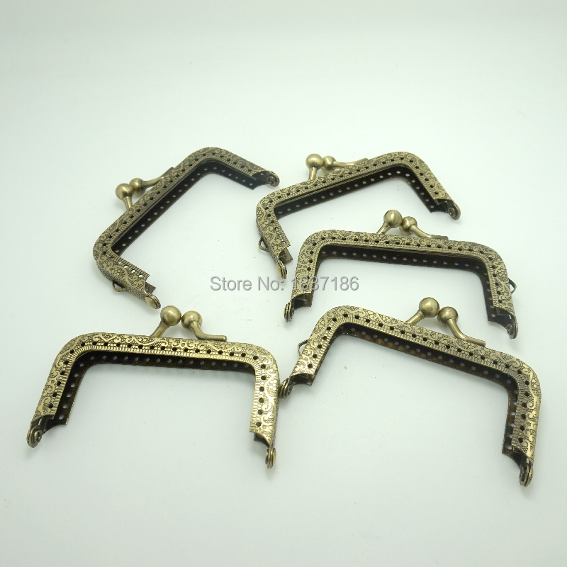 Free shipping 5 pcs Antique Bronze Purse frame 8cm with Square for make a purse/bag With Sewing Holes Made in china