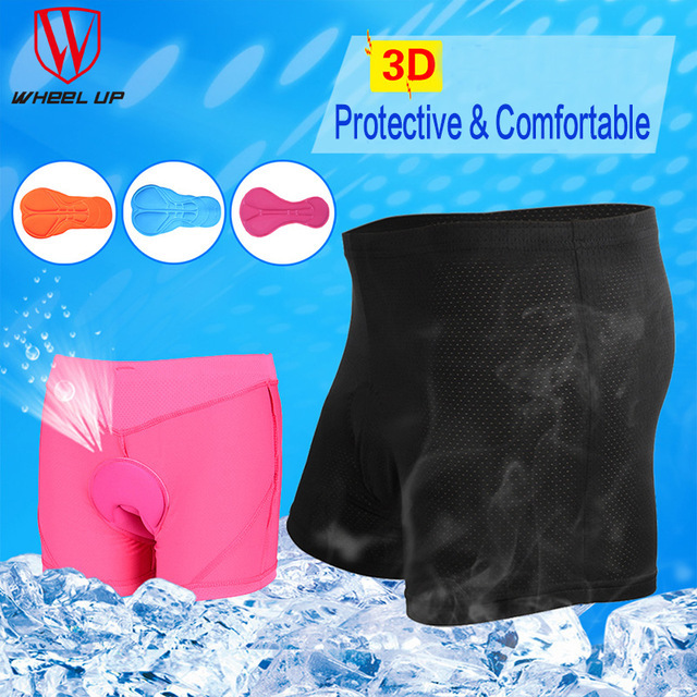 b3bfb9cd3292 Unisex Men Women Silicon Gel Cycling shorts Comfortable 3D Padded MTB  Mountain Bike Short Pants Bicycle Underpants Underwear New