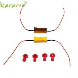 CARPRIE Auto-styling 2PC 50W 6Ohm Auto LED Nebel Drehen Singal Last Widerstand für Fix Led-lampe jn28