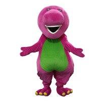 Barney Dragon Mascot costumes on Adult Size Barney dinosaur Mascot costume+Free Shipping