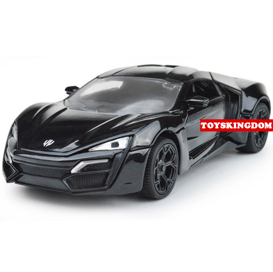 hot fast furious 1 32 scale wheel lykan hypersport diecast super sports metal cars with light. Black Bedroom Furniture Sets. Home Design Ideas