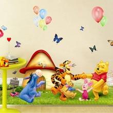 Popular Childrenu0027s Room Wall Cartoon Winnie The Pooh Wall Sticker Wall Mural  Home Decor Room Kids Part 58