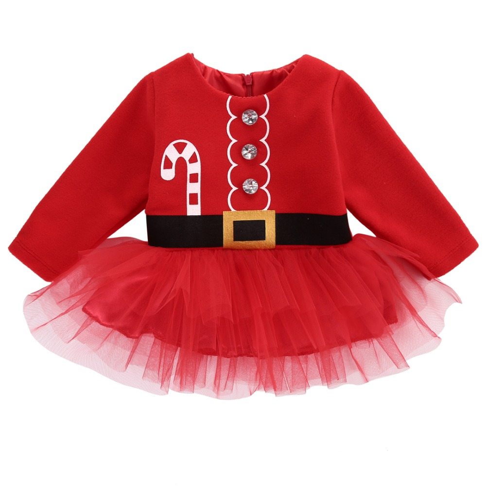 Brand New Cute Christmas dress baby Princess Toddler baby girl dress Tulle Tutu Dress Party Outfits Costume цена