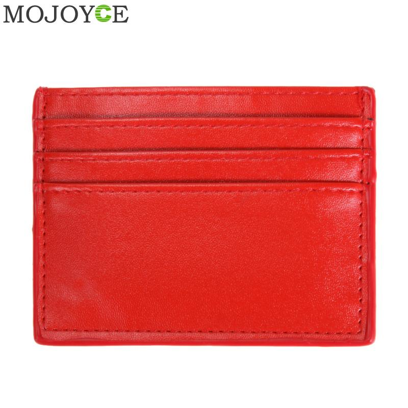 PU Leather ID Card Holders Unisex Credit ID Card Holder PU Leather ID Card Holder Organizer for Men Women Business Card Case Bag fashion unisex business credit card holder top brand alloys bank card case id holders card organizer drop shipping gift yl