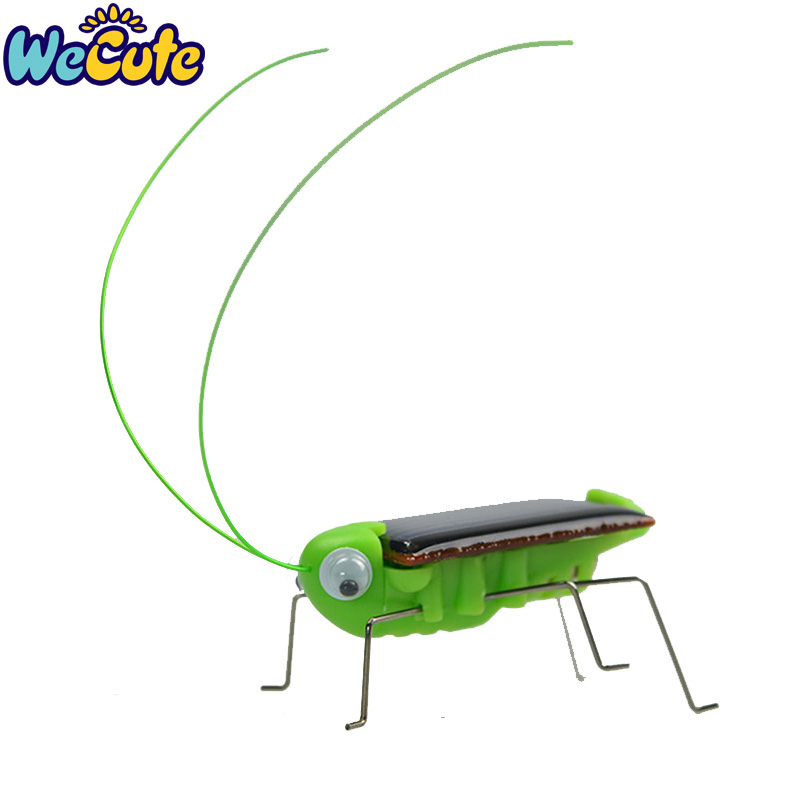 Wecute Mini Kit Novelty Kid Solar Energy Powered Spider Cockroach Power Robot Bug Grasshopper Educational Gadget Kids Toy
