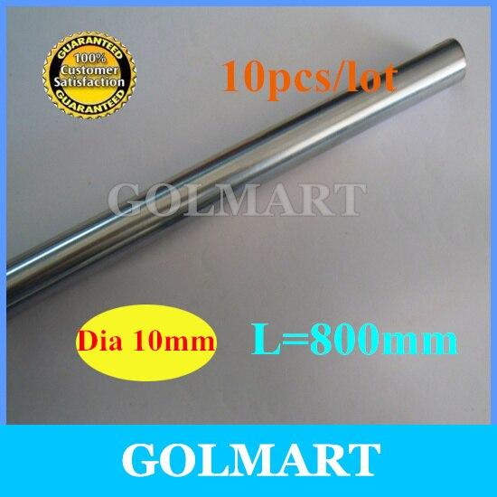 Линейный вал 10 шт. диаметр 10 мм-L 800 мм прецизионный хромированный линейный круглый вал romble