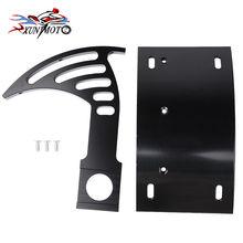 Motorcycle Parts Black Swingarm Side Mount Curve License Plate Bracket for Yamaha YZF R1 R6S Aluminum 1998-2002