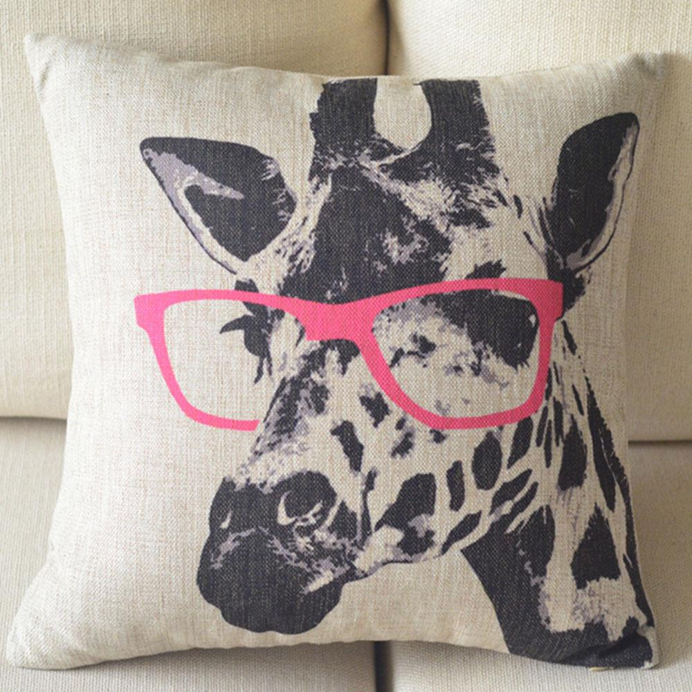 super 17 x 17 cartoon deco pillow case cover square giraffe
