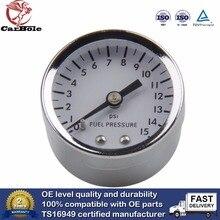 Manomètre à cadran de 38mm de diamètre, jauge de basse pression, testeur hydraulique, barre de 0 à 15 PSI pour carburant, Air, huile, gaz, eau