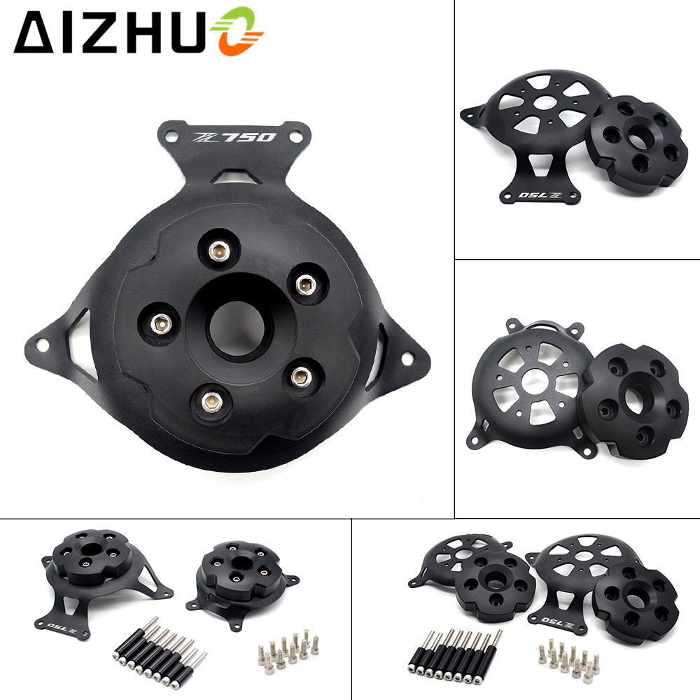 For kawasaki Z750 motorcycle Engine Stator Cover aluminium alloy engine guard protector With Z750 LOGO for z750 2013 2014-2017 motorcycle radiator protective cover grill guard grille protector for kawasaki z1000sx ninja 1000 2011 2012 2013 2014 2015 2016