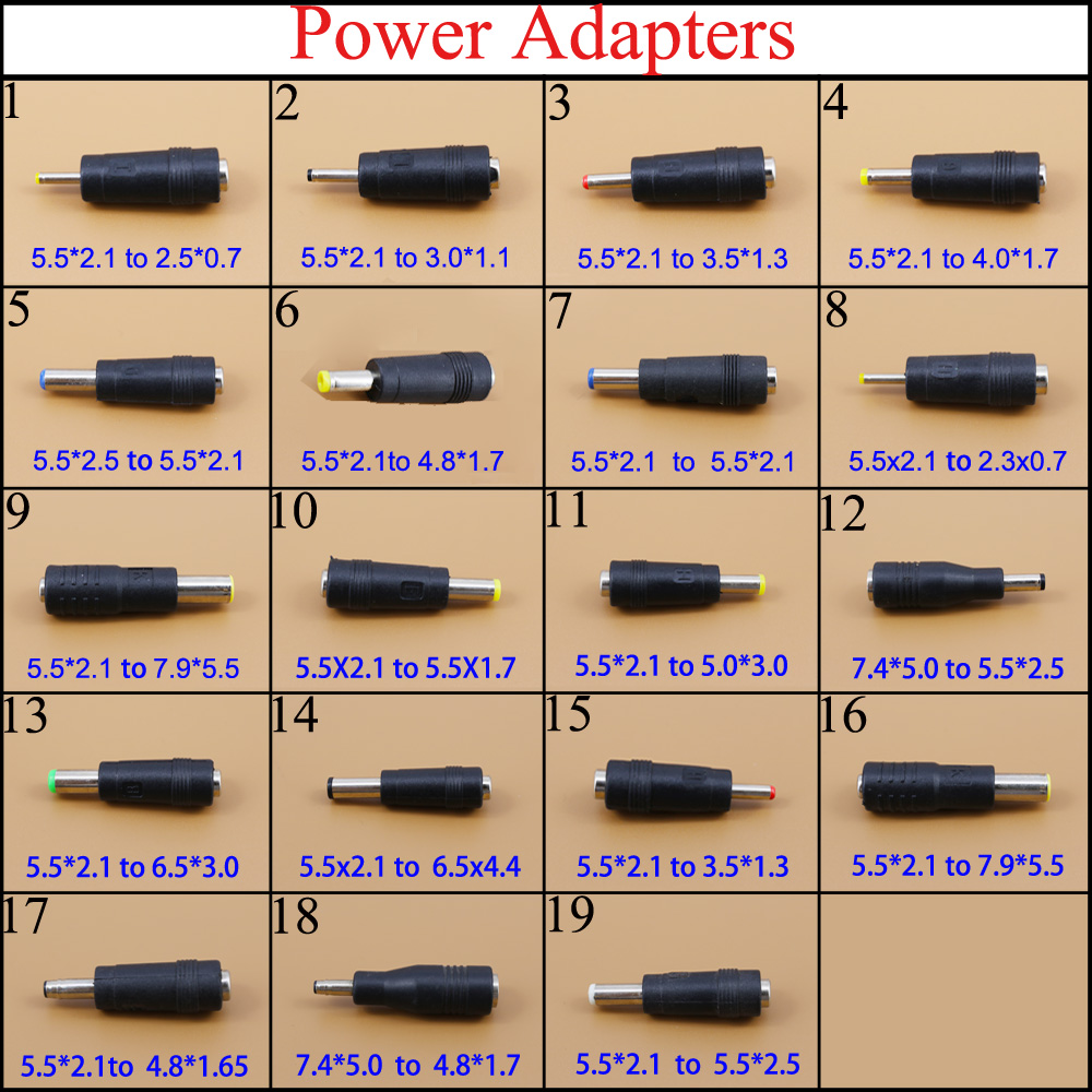 YuXi 5.5*2.1 Mm Female To 7.9*5.5 Mm Male  5.5x2.5/4.8x1.7 DC Adapter For IBM For Lenovo Power Laptops Adapter 6.5 3.0mm DC Jack