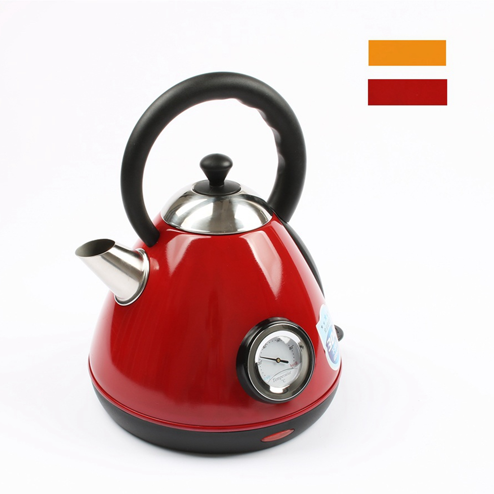 CUKYI Newest Thermometer Electric Kettle 1.7L Household Kettle Chaleira Quick Heating Water Boiler Water Heater 220V water thermometer water boiler display instrument water boiler thermometer 20 110 water heater meter