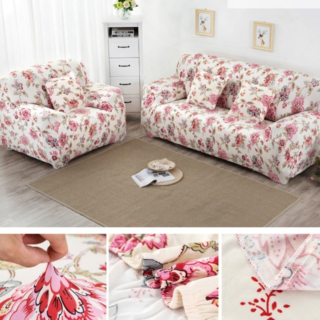 Printed Universal Sofa Cover Flexible Stretch Big Elasticity Couch Cover  Loveseat Sofa Funiture Cover Flower Machine
