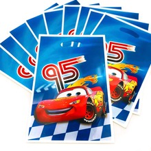 10pcs/set  Lightning Mcqueen Gifts Bags Happy Birthday Party Decoration Loot Shopping Bag Baby Shower Supplies Set